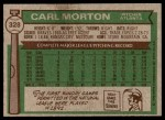 1976 Topps #328  Carl Morton  Back Thumbnail