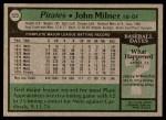 1979 Topps #523  John Milner  Back Thumbnail