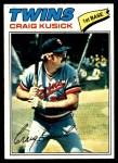 1977 Topps #38  Craig Kusick  Front Thumbnail