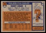 1976 Topps #101  Randy Logan   Back Thumbnail