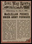 1962 Topps Civil War News #18   Death to the Enemy Back Thumbnail