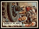 1962 Topps Civil War News #23   Crushed by Wheels Front Thumbnail