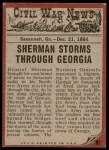 1962 Topps Civil War News #82   Destroying the Rails Back Thumbnail