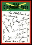 1974 Topps Red Checklist   Reds Red Team Checklist Front Thumbnail