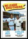 1977 Topps #633   -  Lee May / Carlos May Big League Brothers Front Thumbnail