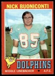 1971 Topps #147  Nick Buoniconti  Front Thumbnail