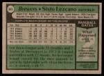 1979 Topps #685  Sixto Lezcano  Back Thumbnail