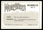1964 Leaf Munsters #8   You'll Eat It Or Else! Back Thumbnail