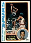1978 Topps #20  George Gervin  Front Thumbnail