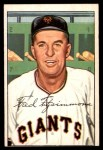 1952 Bowman #234  Fred Fitzsimmons  Front Thumbnail