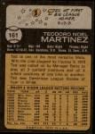1973 Topps #161  Ted Martinez  Back Thumbnail