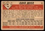 1953 Bowman #115  Cloyd Boyer  Back Thumbnail