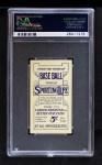 1910 M116 Sporting Life PAS Honus Wagner  Back Thumbnail