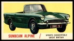 1961 Topps Sports Cars #37   Sunbeam Alpine Front Thumbnail