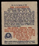 1949 Bowman #6  Phil Cavarretta  Back Thumbnail