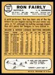 1968 Topps #510  Ron Fairly  Back Thumbnail