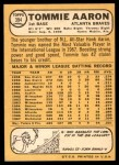 1968 Topps #394  Tommie Aaron  Back Thumbnail
