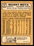 1968 Topps #325  Manny Mota  Back Thumbnail