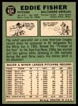 1967 Topps #434  Eddie Fisher  Back Thumbnail