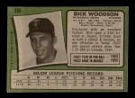 1971 Topps #586  Dick Woodson  Back Thumbnail