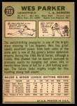 1967 Topps #218  Wes Parker  Back Thumbnail