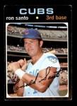 1971 Topps #220  Ron Santo  Front Thumbnail
