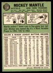 1967 Topps #150  Mickey Mantle  Back Thumbnail