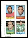 1969 Topps 4-in-1 Football Stamps  Leroy Mitchell / Sid Blanks / Pete Perreault / Paul Rochester  Front Thumbnail