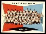 1960 Topps #484   Pirates Team Checklist Front Thumbnail