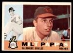 1960 Topps #12  Milt Pappas  Front Thumbnail