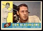 1960 Topps #397  Don Blasingame  Front Thumbnail