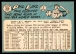1965 Topps #369  Phil Linz  Back Thumbnail
