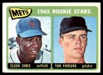 1965 Topps #308   -  Cleon Jones / Tom Parsons Mets Rookies Front Thumbnail