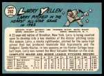 1965 Topps #292  Larry Yellen  Back Thumbnail