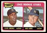 1965 Topps #226   -  Jake Gibbs / Elvio Jimenez Yankees Rookies Front Thumbnail