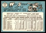 1965 Topps #117  Wes Stock  Back Thumbnail