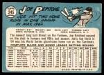 1965 Topps #245  Joe Pepitone  Back Thumbnail