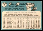 1965 Topps #40  Frank Howard  Back Thumbnail