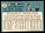 1965 Topps #145  Luis Tiant  Back Thumbnail