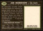 1969 Topps #175  Joe Morrison  Back Thumbnail