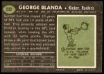 1969 Topps #232  George Blanda  Back Thumbnail