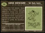 1969 Topps #149  Gene Howard  Back Thumbnail