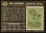 1969 Topps #241  Mike Taliaferro  Back Thumbnail
