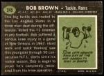 1969 Topps #245  Bob Brown  Back Thumbnail