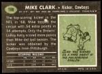 1969 Topps #188  Mike Clark  Back Thumbnail