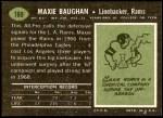 1969 Topps #169  Maxie Baughan  Back Thumbnail