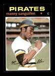 1971 Topps #480  Manny Sanguillen  Front Thumbnail