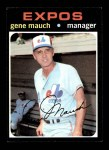 1971 Topps #59  Gene Mauch  Front Thumbnail