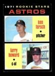 1971 Topps #102   -  Larry Howard / Ken Forsch Astros Rookies Front Thumbnail