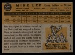 1960 Topps #521  Mike Lee  Back Thumbnail